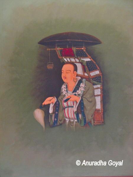 Huan Tsang aka Xuan Zang painting