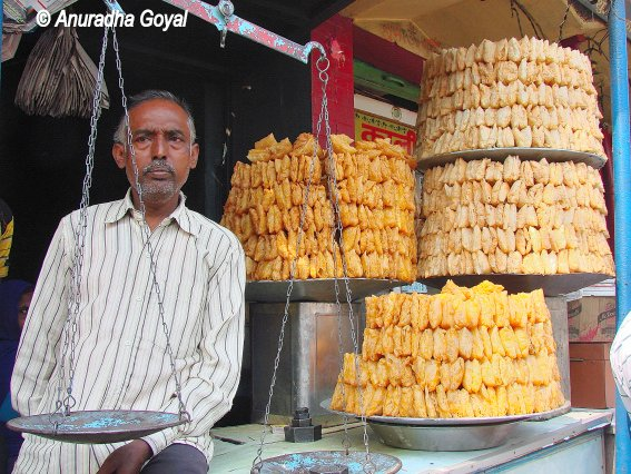 Khaja or Silao sweet dish on sale in Bihar
