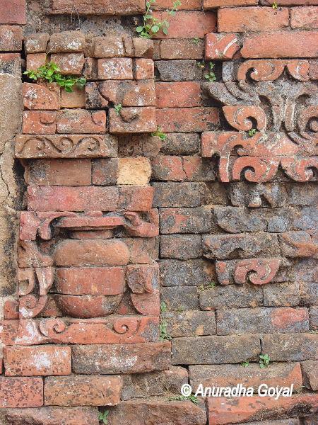 Pot made with baked bricks