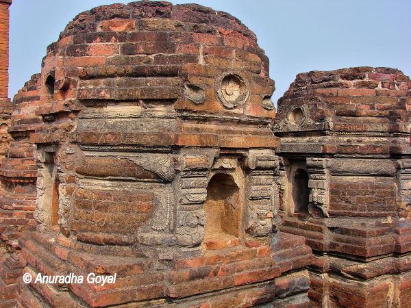 Remains of smaller stupas at Nalanda