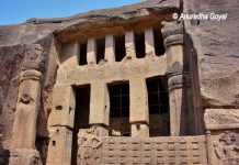 Excavated Cave at Kanheri Caves