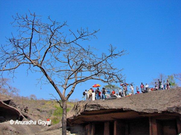 Film Shoot in-progress at Kanheri Caves