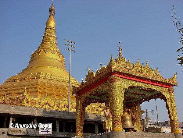 Ornate artwork at Global Vipassana Pagoda