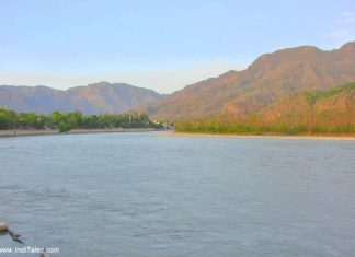 Ganga entering the plains at Rishikesh