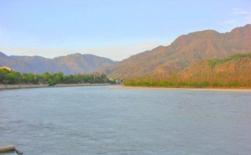Ganga entering the plains at Rishikesh