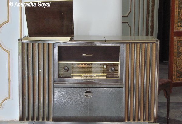 Old Radio on Display at Chowmahalla Palace