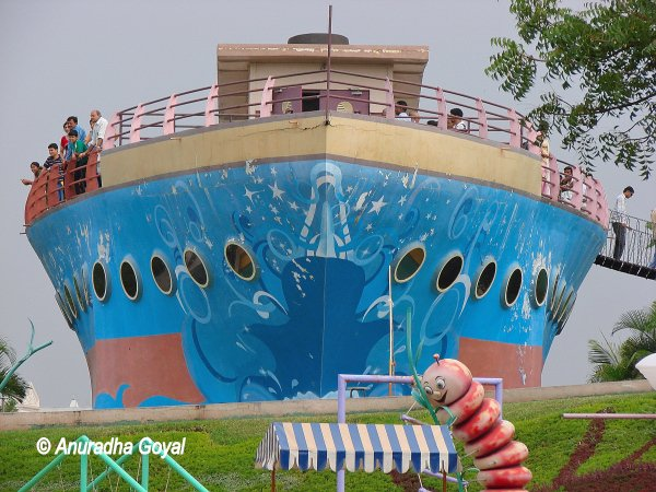 A Titanic inspired ship at theme park of Ramoji Film City