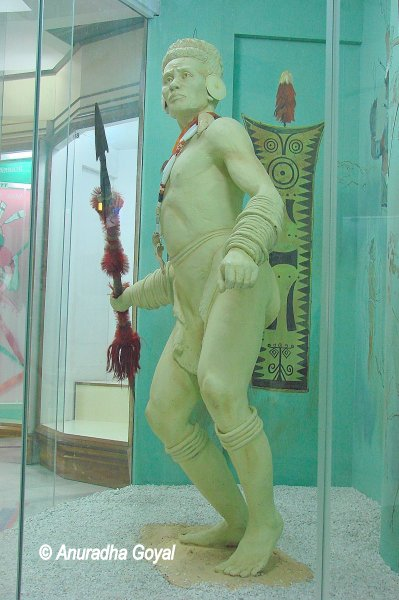 Diorama of a Tribal man at Don Bosco Museum, Shillong