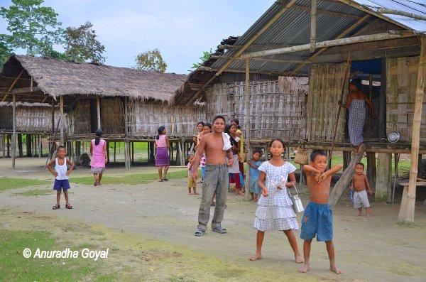 Mishing Tribal inhabitants of Majuli Island, Assam