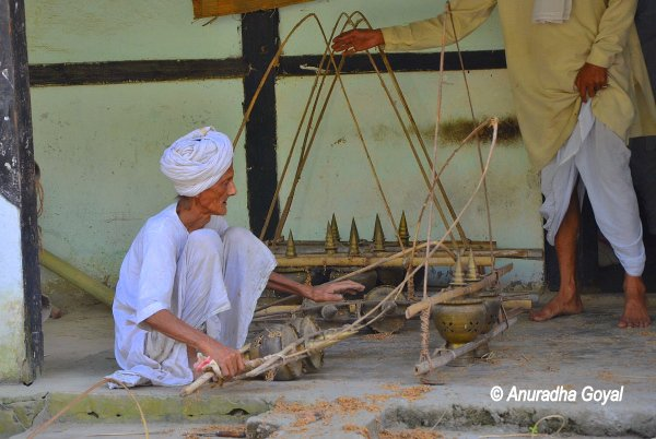 Days routine work at a Satra, Majuli