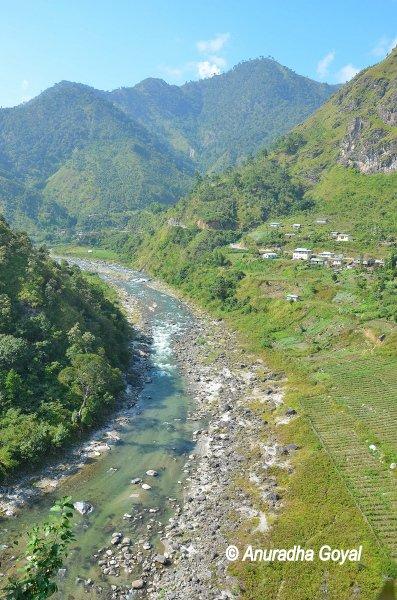 Kameng River landscape view
