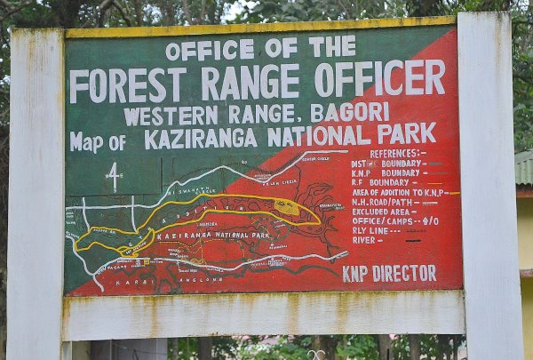 Map of Kaziranga National Park
