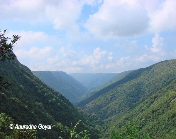 Hilly terrain route to Cherrapunji