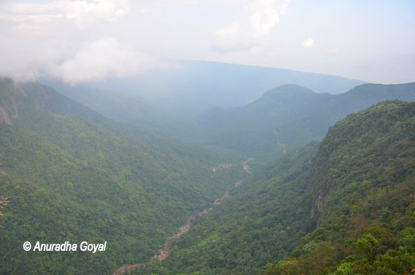 Landscape view of the valley at Cherrapunji