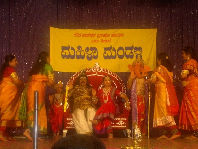 Drama at new year Mahila Mandali function in Sagar, Karnataka