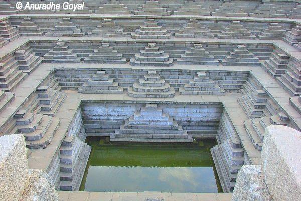 Pushkarini the Step Well at Hampi India