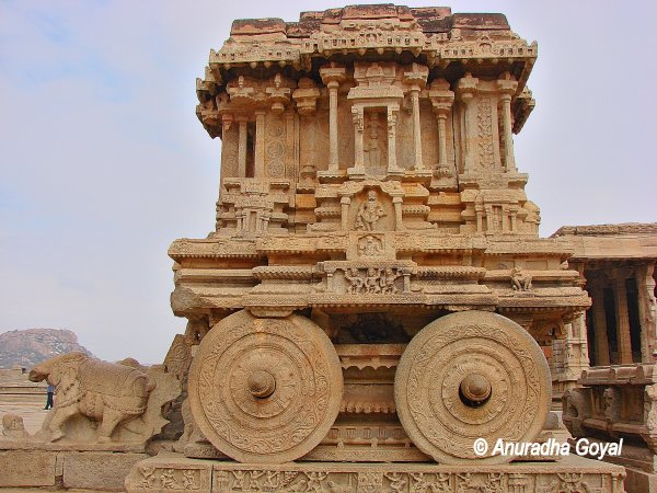 Stone Chariot at Vittala temple, Hampi India
