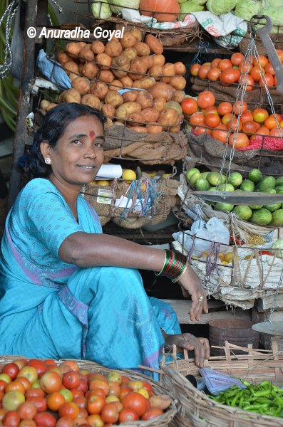 Vegetable vendor at King Koti