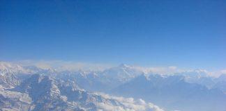 Mount Everest peak, the farthest one