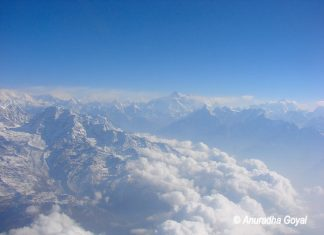 Mount Everest peak, the farthest one
