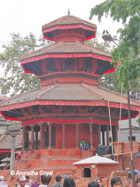 Typical octagonal structures at Kathmandu Durbar Squares