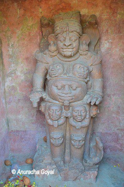 Rudra Shiva red sandstone sculpture