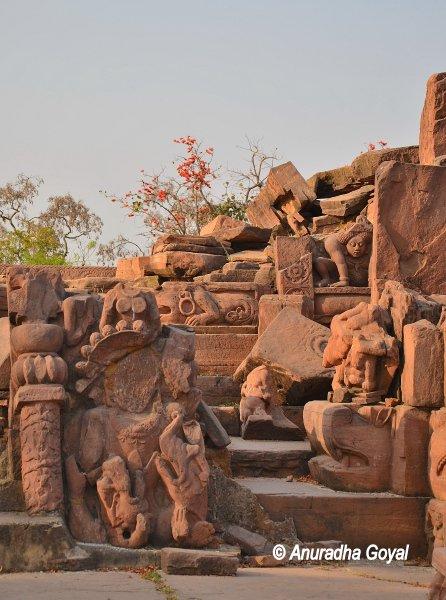 Ruins at Devrani Jethani temple complex