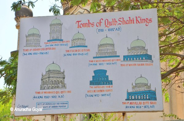 Different architectural styles at Qutub Shahi tombs