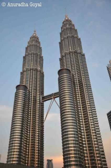 Petronas Twin Towers at dusk