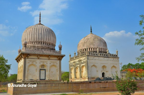 Twin tombs at Qutub Shahi tombs complex