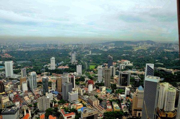 Kuala Lumpur cityscape views from KL Tower