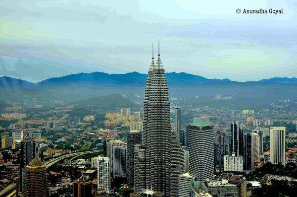 Petronas Towers from KL Tower or Menara Kuala Lumpur
