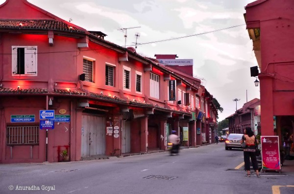 The Red town Melaka Malaysia