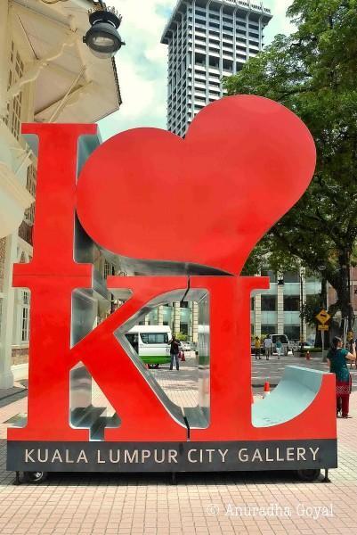 Selfie Stand outside Kuala Lumpur City Gallery