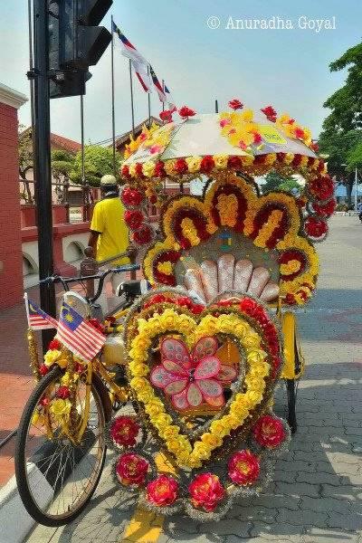 Trishaw - the colorful Rickshaws of Melaka