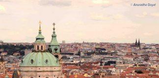 Prague Skyline from Prague Castle, Czech Republic