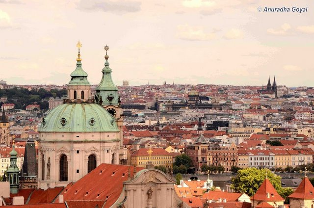 Prague Skyline from Prague Castle, Czech Republic