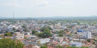Medak cityscape view from Medak Fort