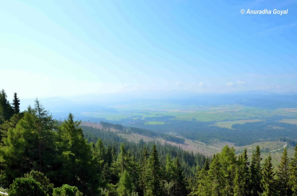 Scenic view from the Tatra Mountains