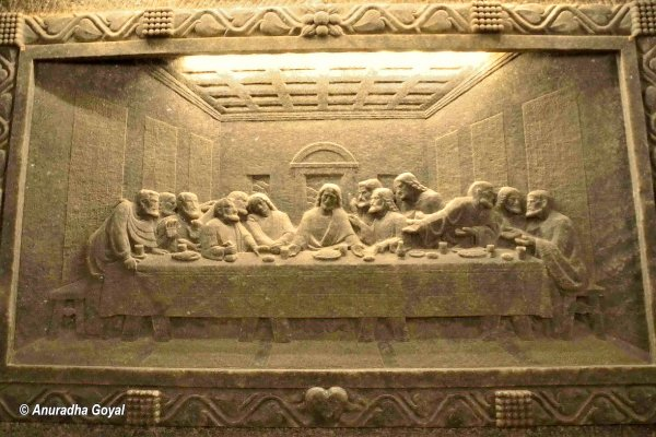The Last Supper at Wieliczka Salt Mine, Krakow