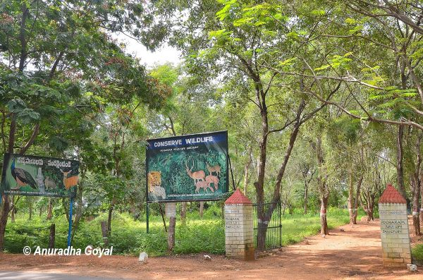 Pocharam Wildlife Sanctuary entrance