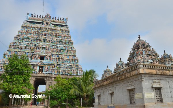 Gopuram of Nataraja Temple at Chidambaram or Chidambaram Temple
