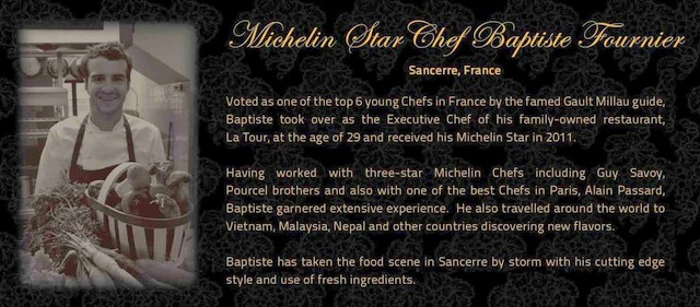 Note on Michelin Star Chef Baptiste