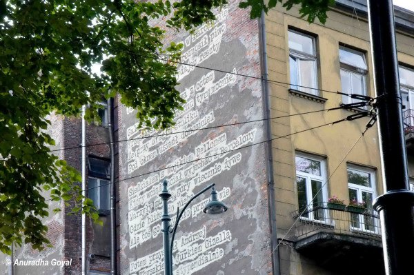 Poetry on the Walls of Krakow Town