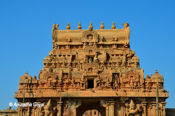 Gopuram of Brihadeeswara Temple or Thanjavur Temple