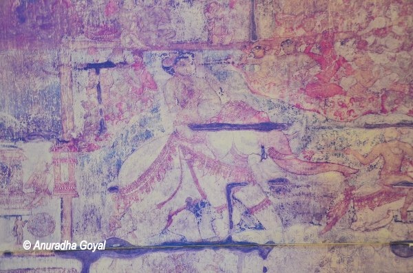 Heritage Paintings on the walls of Brihadeeswara Temple or Tanjore Temple