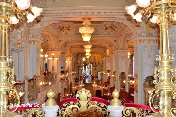 Plush Interiors of New York Cafe, Budapest
