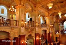 Ornate Interiors of New York Cafe, Budapest