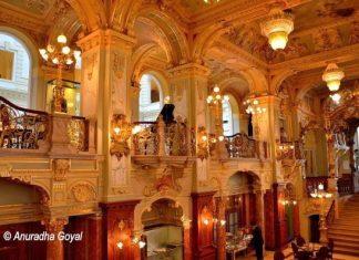Ornate Interiors of New York Cafe, Budapest
