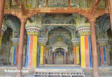 Colorful Durbar Hall at Maratha Palace Tanjore
